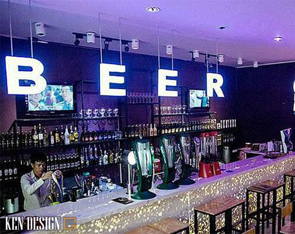 thiet ke quan bia ket hop do an nhanh 2 - Thiết kế quán bia kết hợp với đồ ăn nhanh