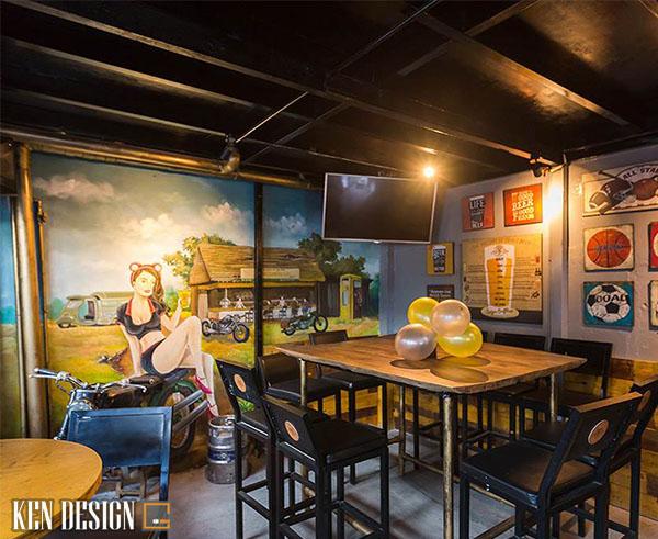 thiet ke quan bia ket hop do an nhanh 6 - Thiết kế quán bia kết hợp với đồ ăn nhanh