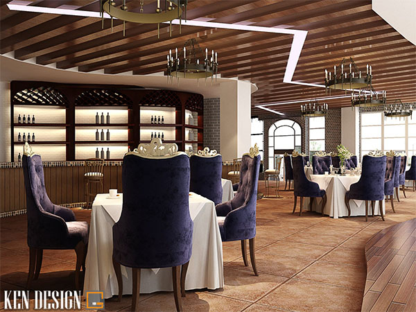 tieu chi thiet ke mau nha hang dep sang trong 1 - Tiêu chí thiết kế mẫu nhà hàng đẹp, sang trọng không thể bỏ qua