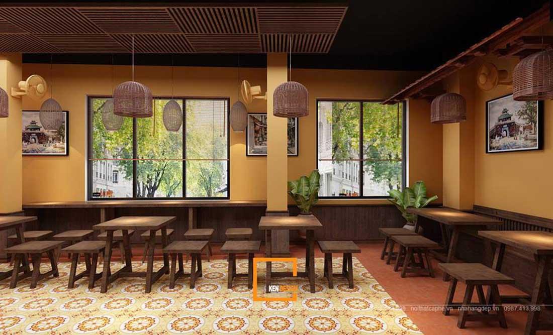 ngam ha thanh xua qua thiet ke nha hang pho suong 10 - Ngắm Hà Thành xưa qua thiết kế nhà hàng phở Sướng