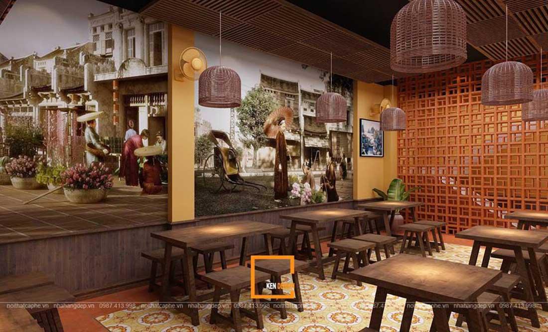 ngam ha thanh xua qua thiet ke nha hang pho suong 11 - Ngắm Hà Thành xưa qua thiết kế nhà hàng phở Sướng