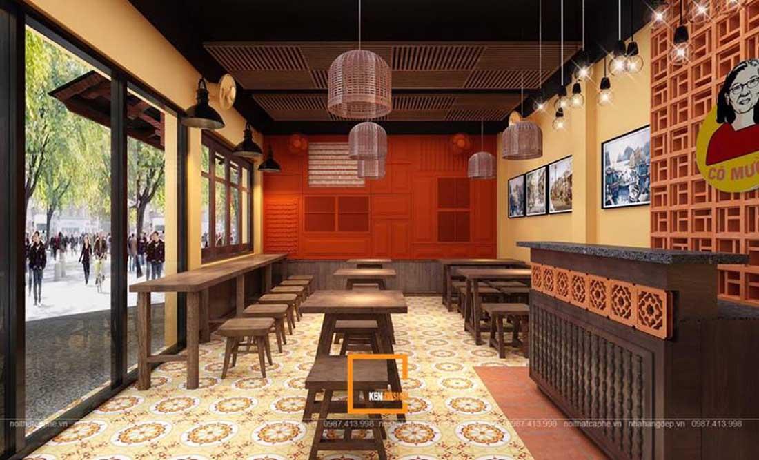 ngam ha thanh xua qua thiet ke nha hang pho suong 3 - Ngắm Hà Thành xưa qua thiết kế nhà hàng phở Sướng