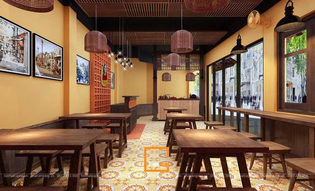 ngam ha thanh xua qua thiet ke nha hang pho suong 7 - Ngắm Hà Thành xưa qua thiết kế nhà hàng phở Sướng