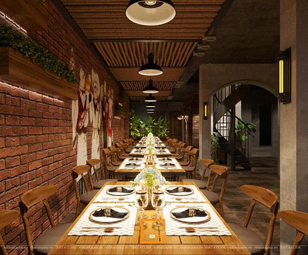 thiet ke nha hang beefsteak tai ho chi minh 9 - Thiết kế nhà hàng Topping Beef tại Tp. Hồ Chí Minh