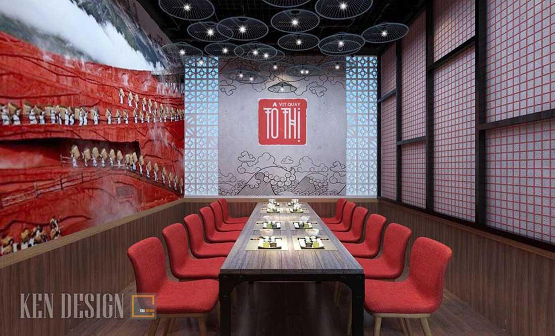 thiet ke nha hang vit quay to thi 8 - Thiết kế nhà hàng Vịt quay Tô thị
