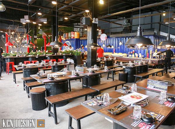 trang tri nhu the nao khi thiet nha hang lau nuong 3 - Cách trang trí thiết kế nhà hàng lẩu nướng bạn nên biết