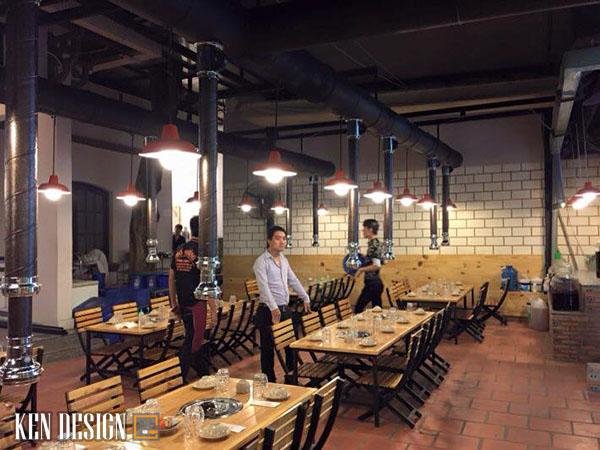 trang tri nhu the nao khi thiet nha hang lau nuong 6 - Cách trang trí thiết kế nhà hàng lẩu nướng bạn nên biết