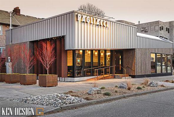 kinh nghiem thiet ke nha hang hai mat tien hieu qua 3 591x400 - Kinh nghiệm thiết kế nhà hàng hai mặt tiền hiệu quả