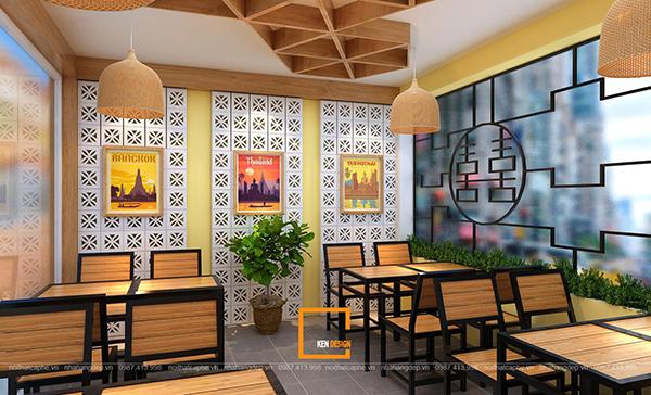 su ket hop doc la giua khong gian ca phe va thiet ke nha hang thai olan tai vinh phuc 1 2 - Thiết kế nhà hàng Thái Lan A Hản Thay cơ sở 2 tại Hà Nội