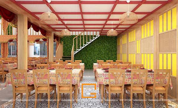 su ket hop doc la giua khong gian ca phe va thiet ke nha hang thai olan tai vinh phuc 10 - Thiết kế nhà hàng Thái Lan A Hản Thay cơ sở 2 tại Hà Nội