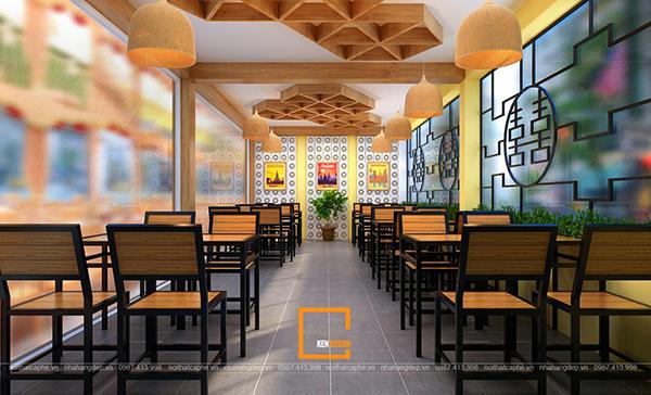 su ket hop doc la giua khong gian ca phe va thiet ke nha hang thai olan tai vinh phuc 2 1 - Thiết kế nhà hàng Thái Lan A Hản Thay cơ sở 2 tại Hà Nội