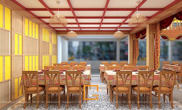 su ket hop doc la giua khong gian ca phe va thiet ke nha hang thai olan tai vinh phuc 4 - Thiết kế nhà hàng Thái Lan A Hản Thay cơ sở 2 tại Hà Nội