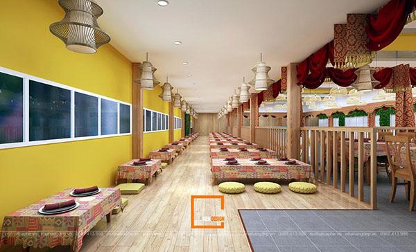 su ket hop doc la giua khong gian ca phe va thiet ke nha hang thai olan tai vinh phuc 8 - Thiết kế nhà hàng Thái Lan A Hản Thay cơ sở 2 tại Hà Nội