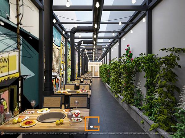 thiet ke nha hang lau nuong khong khoi bbq queen thu hut tai nam dinh 1 - Thiết kế nhà hàng lẩu nướng không khói Queen BBQ thu hút tại Nam Định