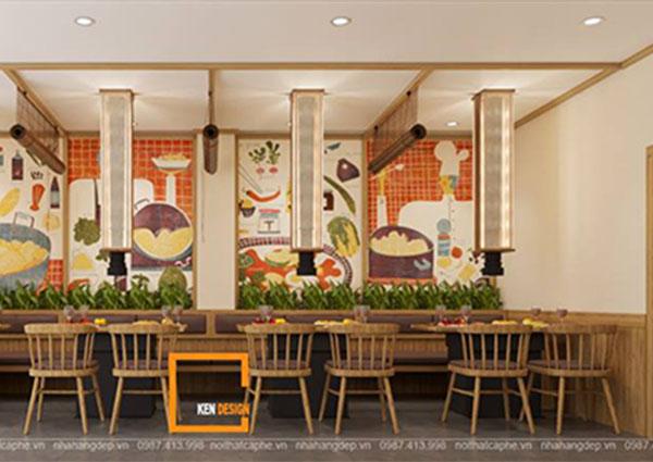 thiet ke nha hang lau nuong khong khoi bbq queen thu hut tai nam dinh 10 - Thiết kế nhà hàng lẩu nướng không khói Queen BBQ thu hút tại Nam Định