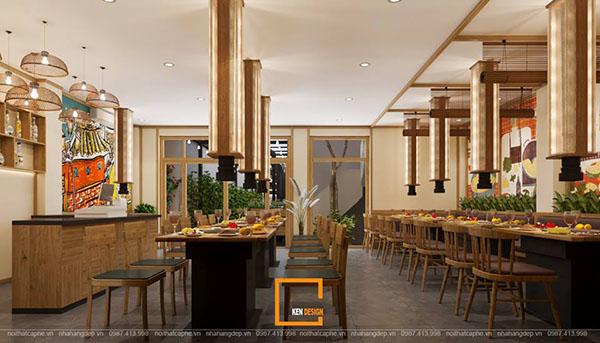 thiet ke nha hang lau nuong khong khoi bbq queen thu hut tai nam dinh 3 - Thiết kế nhà hàng lẩu nướng không khói Queen BBQ thu hút tại Nam Định