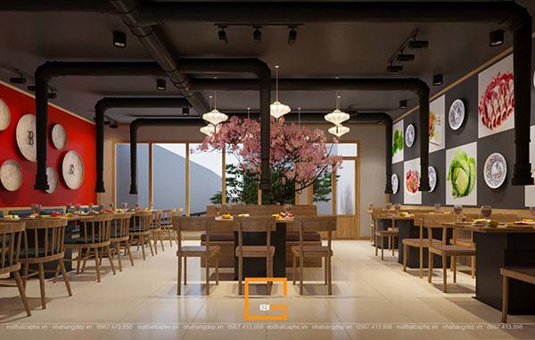 thiet ke nha hang lau nuong khong khoi bbq queen thu hut tai nam dinh 4 - Thiết kế nhà hàng lẩu nướng không khói Queen BBQ thu hút tại Nam Định