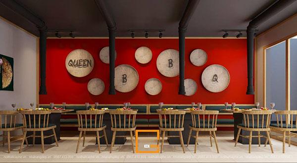 thiet ke nha hang lau nuong khong khoi bbq queen thu hut tai nam dinh 6 - Thiết kế nhà hàng lẩu nướng không khói Queen BBQ thu hút tại Nam Định