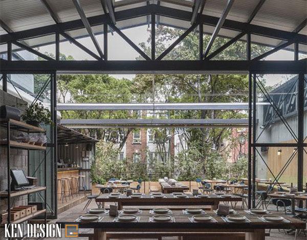tu van thiet ke nha hang nha thep tien che hieu qua 5 - Cách thiết kế nhà hàng nhà thép tiền chế hiệu quả