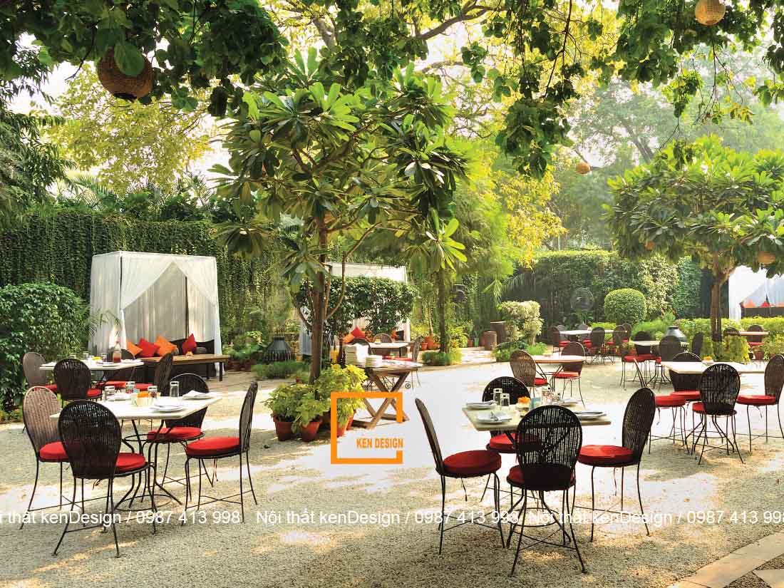 bi quyet thiet ke quan an san vuon hieu qua 1 - Bí quyết thiết kế quán ăn sân vườn hiệu quả
