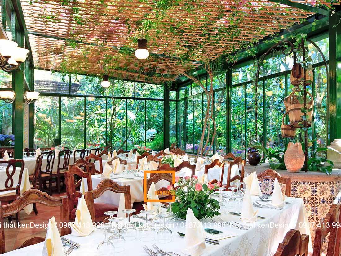 bi quyet thiet ke quan an san vuon hieu qua 4 - Bí quyết thiết kế quán ăn sân vườn hiệu quả