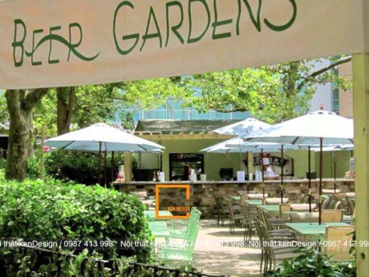 cach thiet ke nha hang bia phong cach san vuon doc dao 3 533x400 - Cách thiết kế nhà hàng bia phong cách sân vườn độc đáo