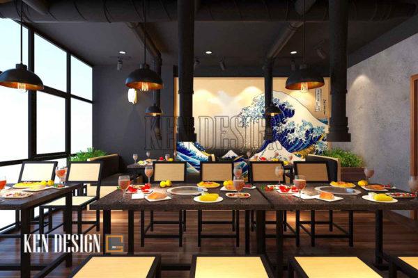 diem danh nhung mau thiet ke nha hang lau dep an tuong 5 600x400 - Điểm danh những mẫu thiết kế nhà hàng lẩu đẹp, ấn tượng
