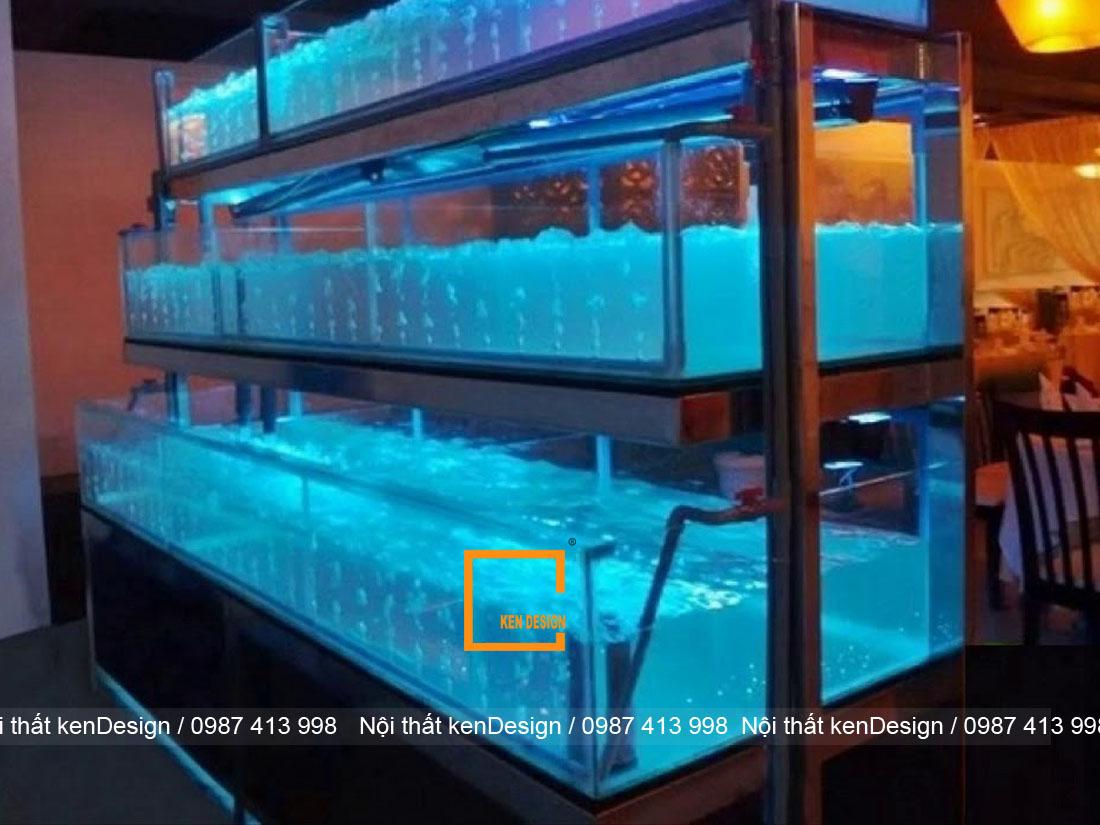 huong dan cach thiet ke be ca nha hang chuan kich thuoc 5 - Hướng dẫn cách thiết kế bể cá nhà hàng chuẩn kích thước