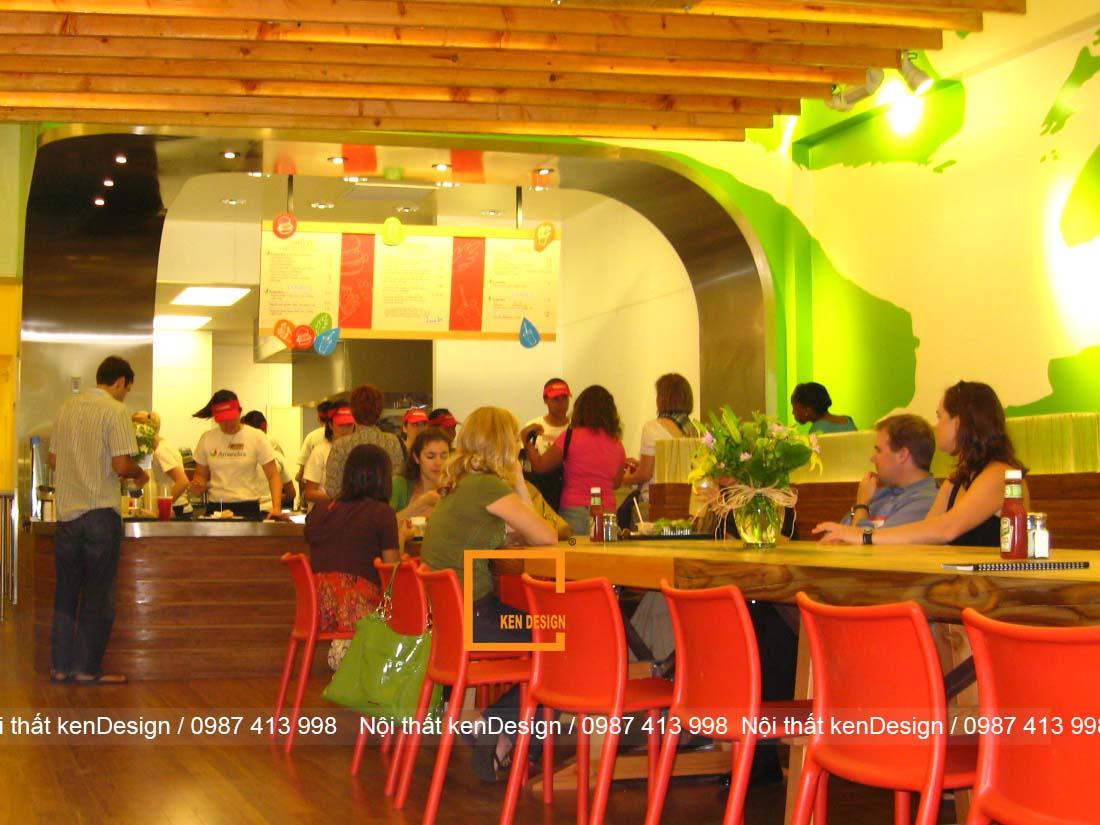 thiet ke nha hang an nhanh 3 - Thiết kế nhà hàng ăn nhanh - Lợi nhuận khổng lồ tại các thành phố lớn