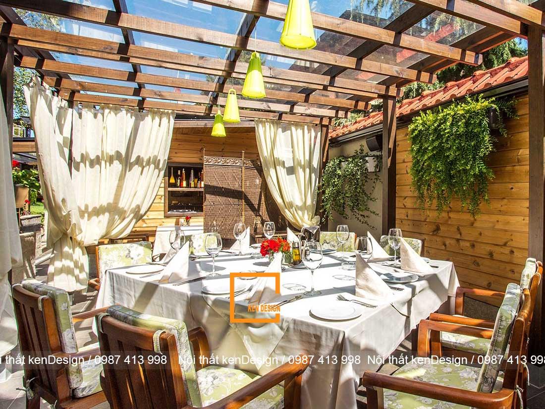 thiet ke nha hang khach san phong cach san vuon 1 - Thiết kế nhà hàng khách sạn phong cách sân vườn