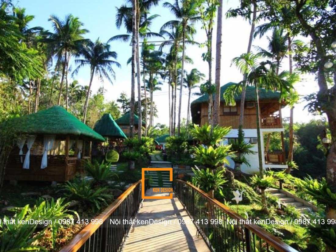 thiet ke nha hang khach san phong cach san vuon 2 - Thiết kế nhà hàng khách sạn phong cách sân vườn