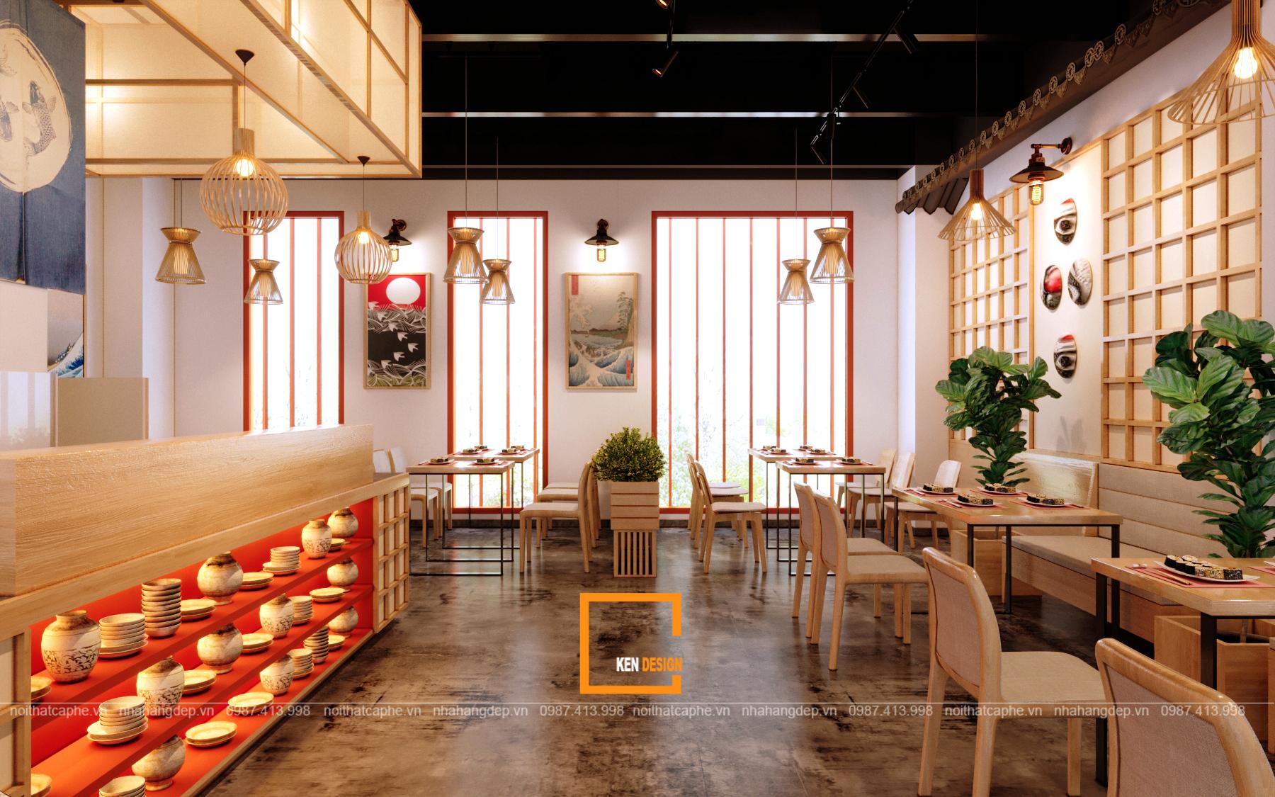 thiet ke nha hang sekai sushi cua anh long tại vung tau 3 - Thiết kế nhà hàng SeKai Sushi độc đáo tại Vũng Tàu
