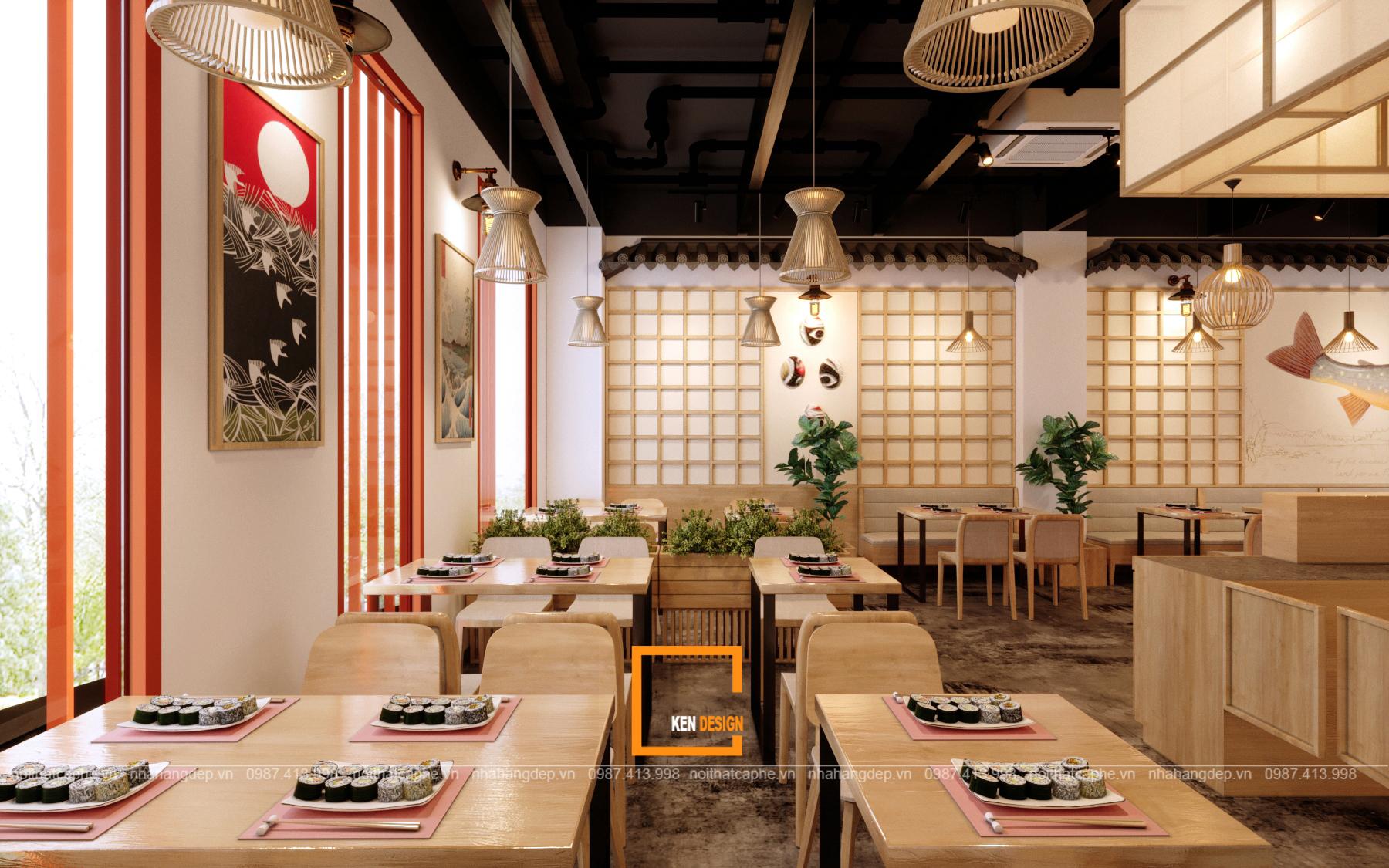 thiet ke nha hang sekai sushi cua anh long tại vung tau 5 - Thiết kế nhà hàng SeKai Sushi độc đáo tại Vũng Tàu