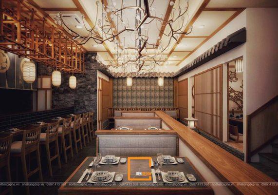 goi y mot so mau thiet ke nha hang kieu nhat cao cap 3 571x400 - Gợi ý một số mẫu thiết kế nhà hàng kiểu Nhật cao cấp