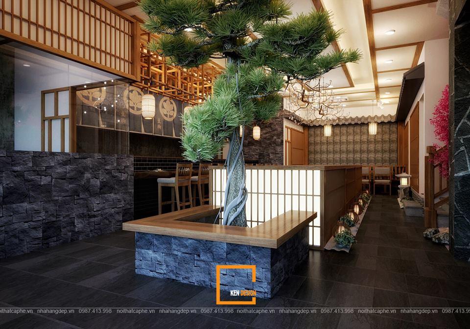 mot nhat ban thu nho trong thiet ke quan hinomaru sushi tai da nang 11 - Thiết kế nhà hàng Sushi phong cách Nhật Bản