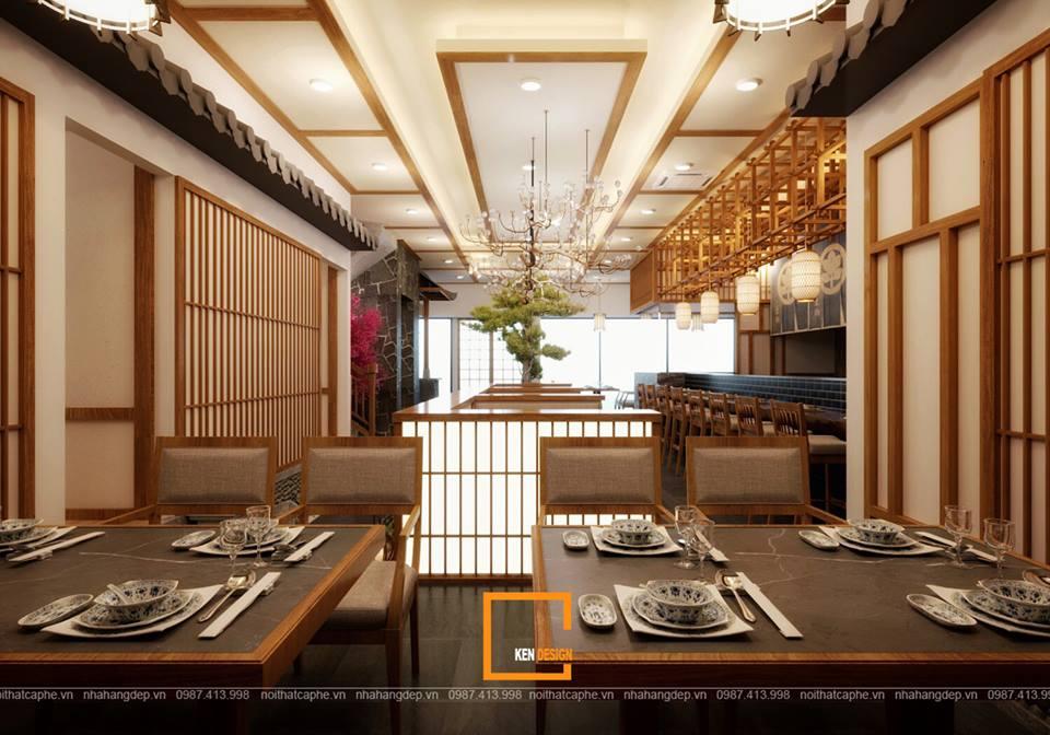 mot nhat ban thu nho trong thiet ke quan hinomaru sushi tai da nang 2 - Thiết kế nhà hàng Sushi phong cách Nhật Bản