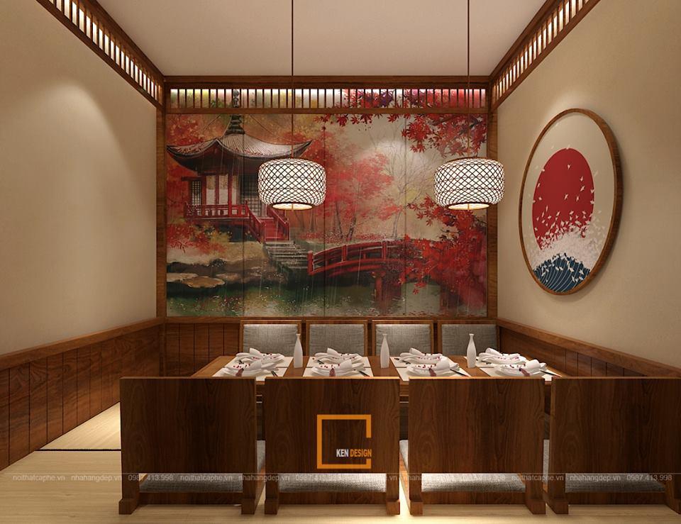 mot nhat ban thu nho trong thiet ke quan hinomaru sushi tai da nang 30 - Thiết kế nhà hàng Sushi phong cách Nhật Bản