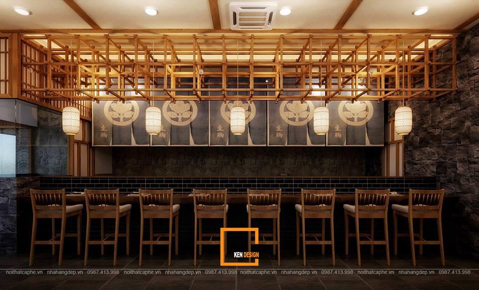 mot nhat ban thu nho trong thiet ke quan hinomaru sushi tai da nang 7 - Thiết kế nhà hàng Sushi phong cách Nhật Bản