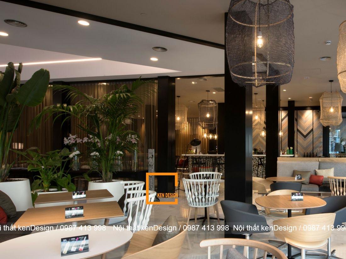 thiet ke nha hang khach san phong cach hien dai tre trung 1 - Thiết kế nhà hàng khách sạn phong cách hiện đại, trẻ trung