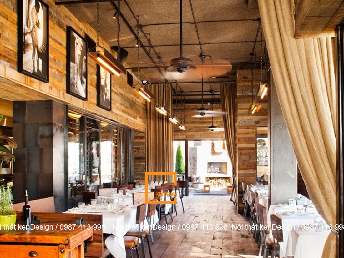 thiet ke nha hang phong cach rustic mang ve dep moc mac gan gui 2 - Thiết kế nhà hàng phong cách Rustic mang vẻ đẹp mộc mạc, gần gũi