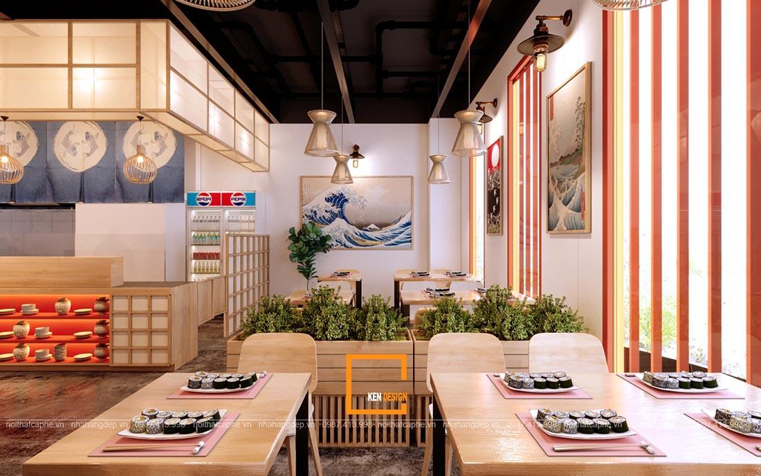 thiet ke nha hang sushi phong cach nhat ban 2 - Thiết kế nhà hàng Sushi phong cách Nhật Bản