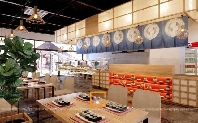 thiet ke nha hang sushi phong cach nhat ban 3 640x400 - Thiết kế nhà hàng Sushi phong cách Nhật Bản