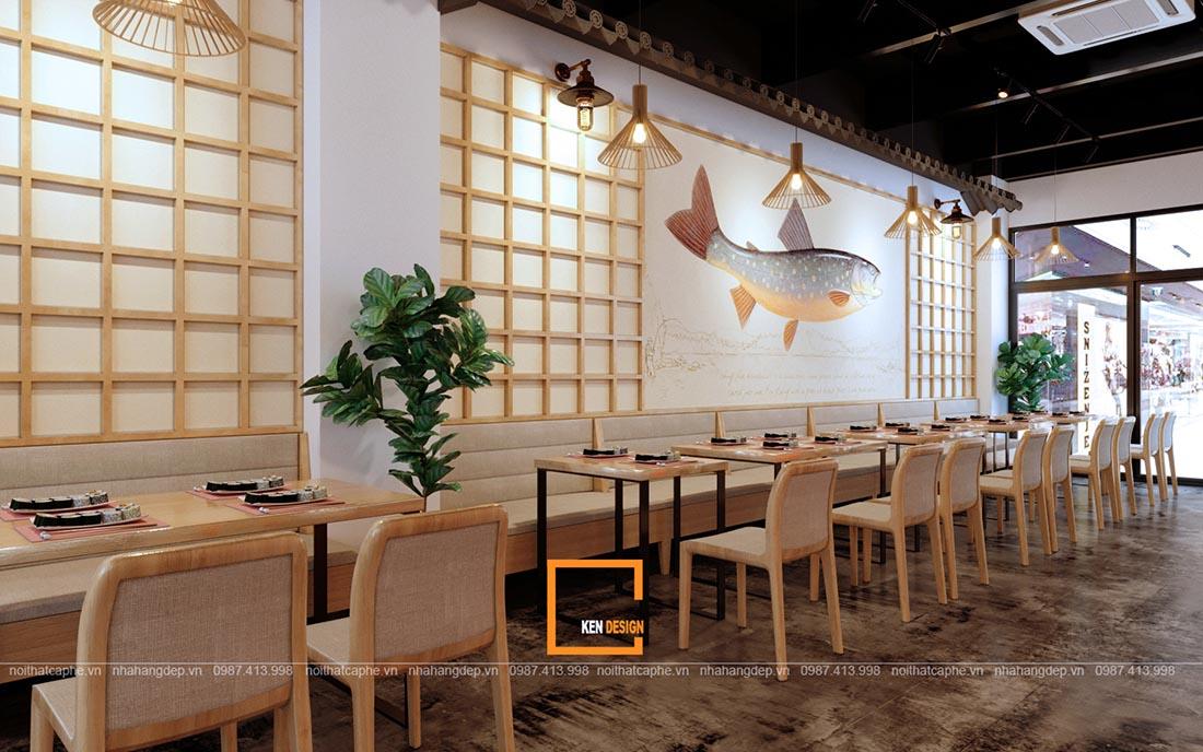thiet ke nha hang sushi phong cach nhat ban 4 - Thiết kế nhà hàng Sushi phong cách Nhật Bản