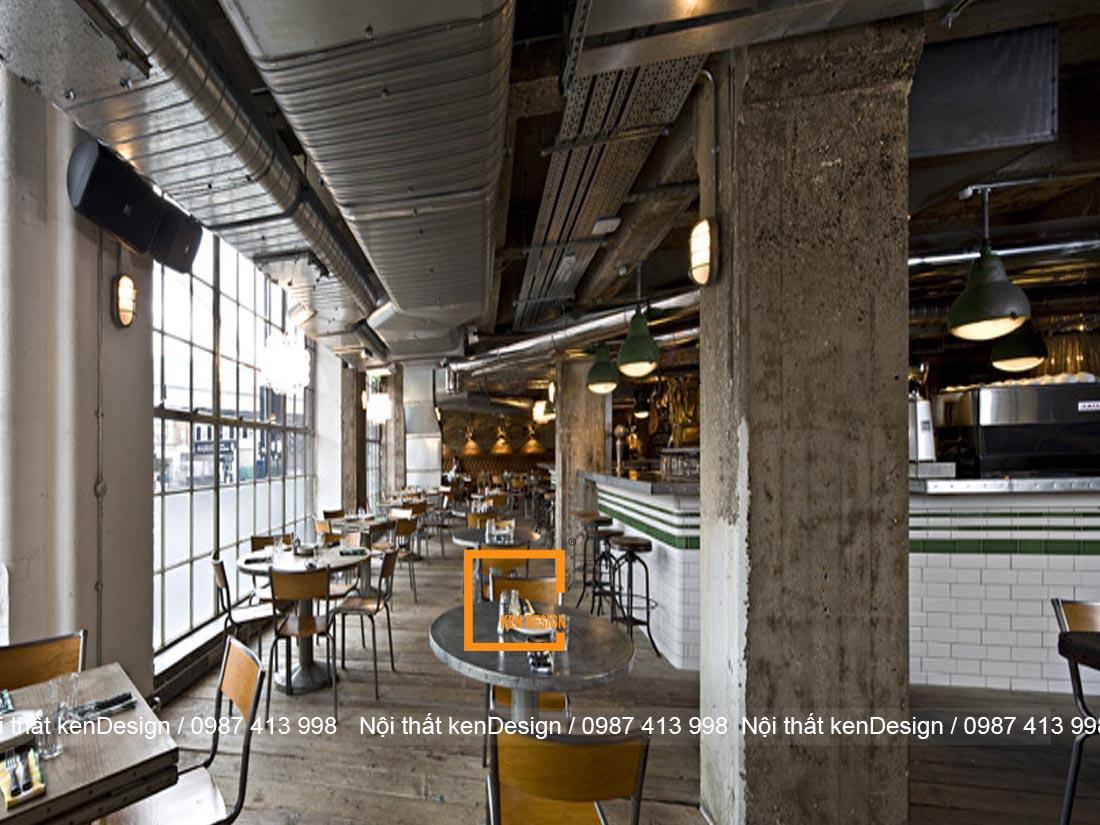 tieu chuan thiet ke nha hang phong cach industrial 3 - Tiêu chuẩn thiết kế nhà hàng phong cách industrial