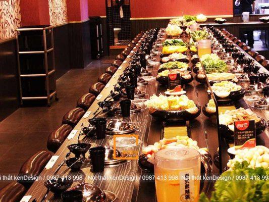 uu diem khi thiet ke nha hang lau bang chuyen 2 533x400 - Ưu điểm khi thiết kế nhà hàng lẩu bằng chuyền