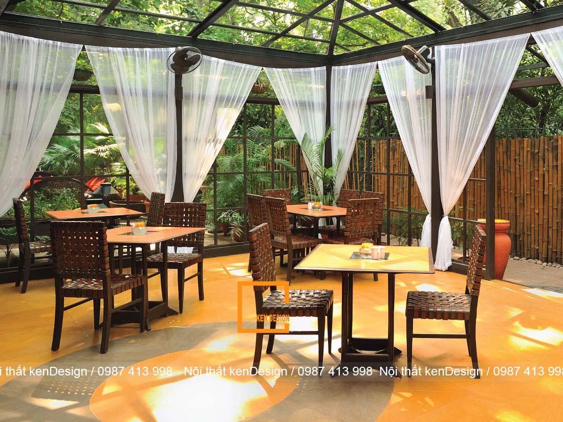 cach thiet ke ban ghe nha hang phong cach san vuon 3 - Cách thiết kế bàn ghế nhà hàng phong cách sân vườn