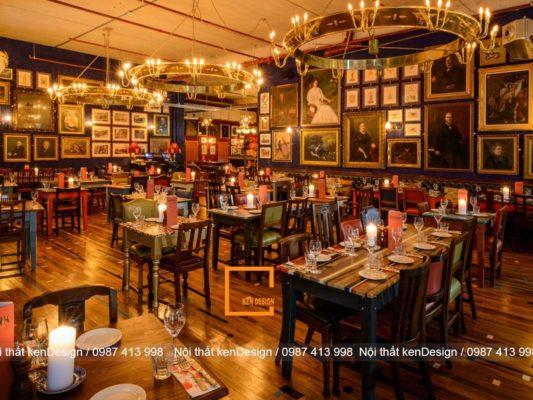 dac trung trong thiet ke nha hang phong cach retro 2 533x400 - Đặc trưng trong thiết kế nhà hàng phong cách Retro