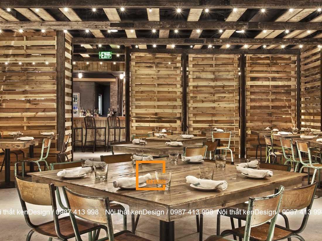 kinh nghiem thiet ke nha hang phong cach rustic 2 - Kinh nghiệm thiết kế nhà hàng phong cách Rustic