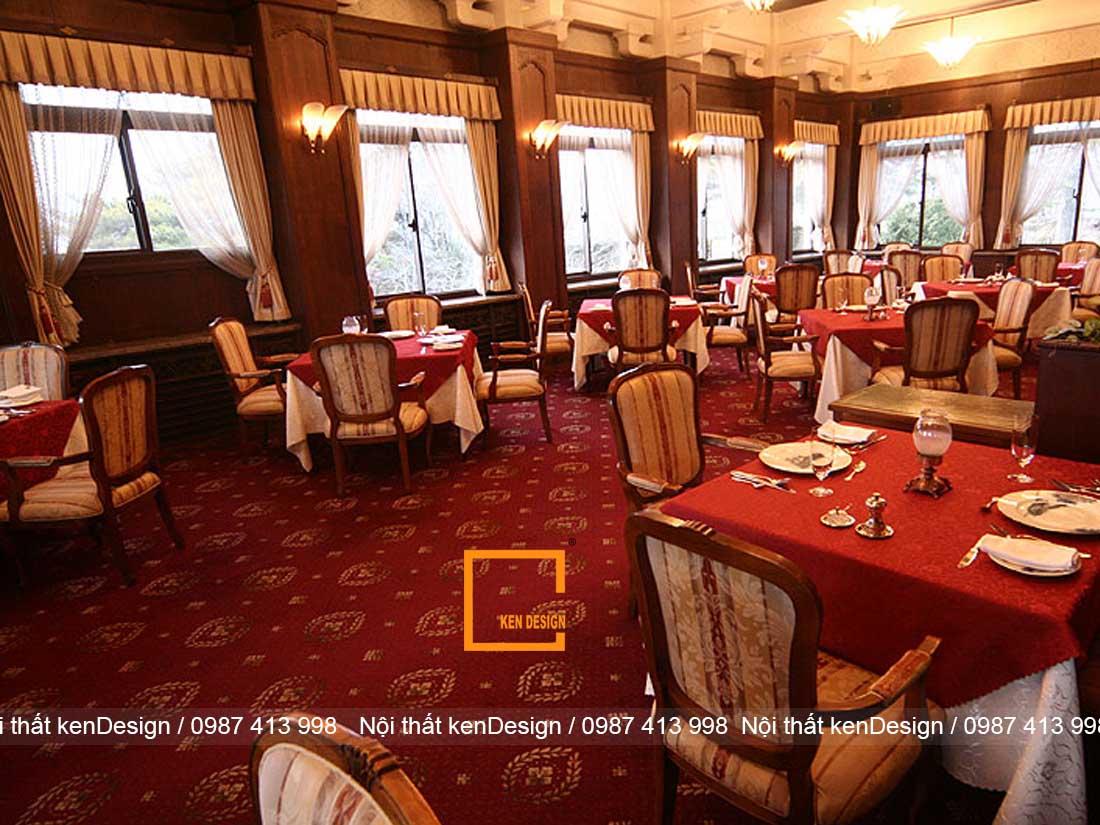 luu y quan trong khi thiet ke nha hang phong cach co dien 2 - Lưu ý quan trọng khi thiết kế nhà hàng phong cách cổ điển