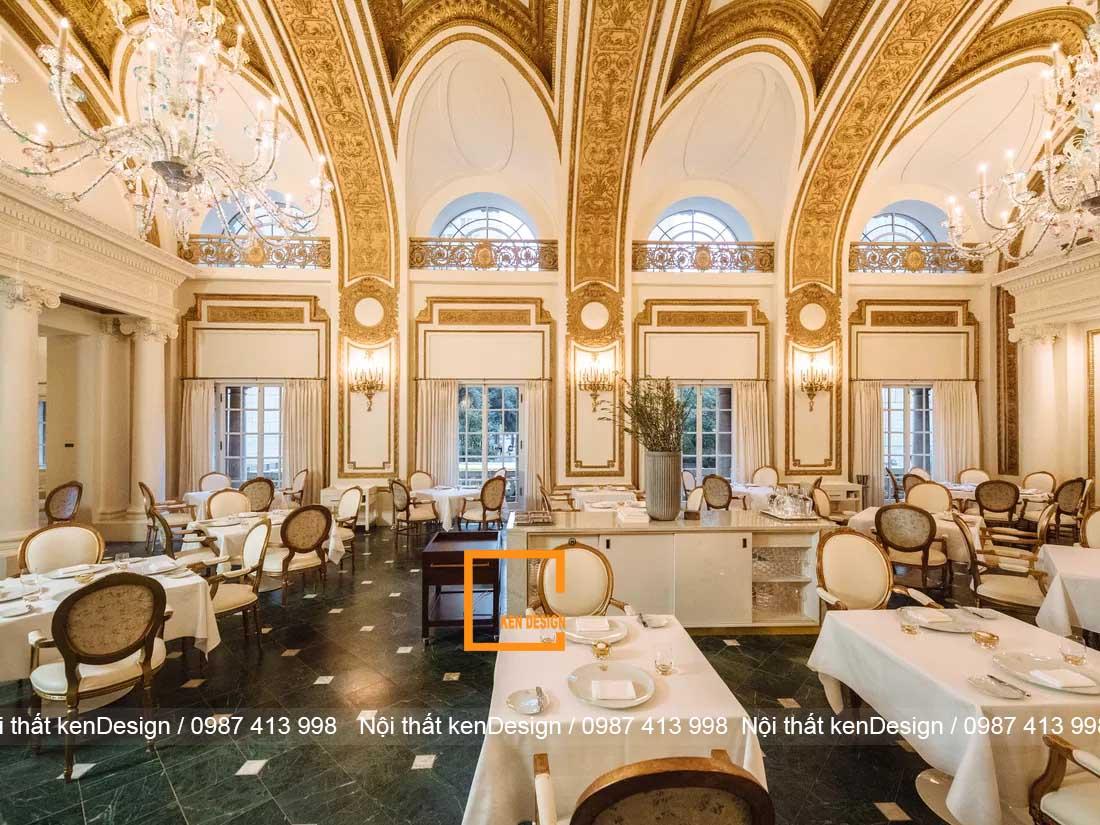 luu y quan trong khi thiet ke nha hang phong cach co dien 4 - Lưu ý quan trọng khi thiết kế nhà hàng phong cách cổ điển